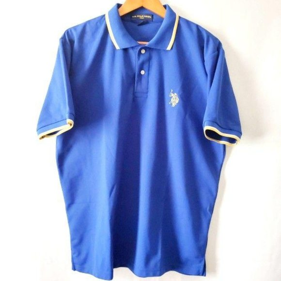 U.S. POLO Assn. Men's Royal Blue Golf Shirt Size L